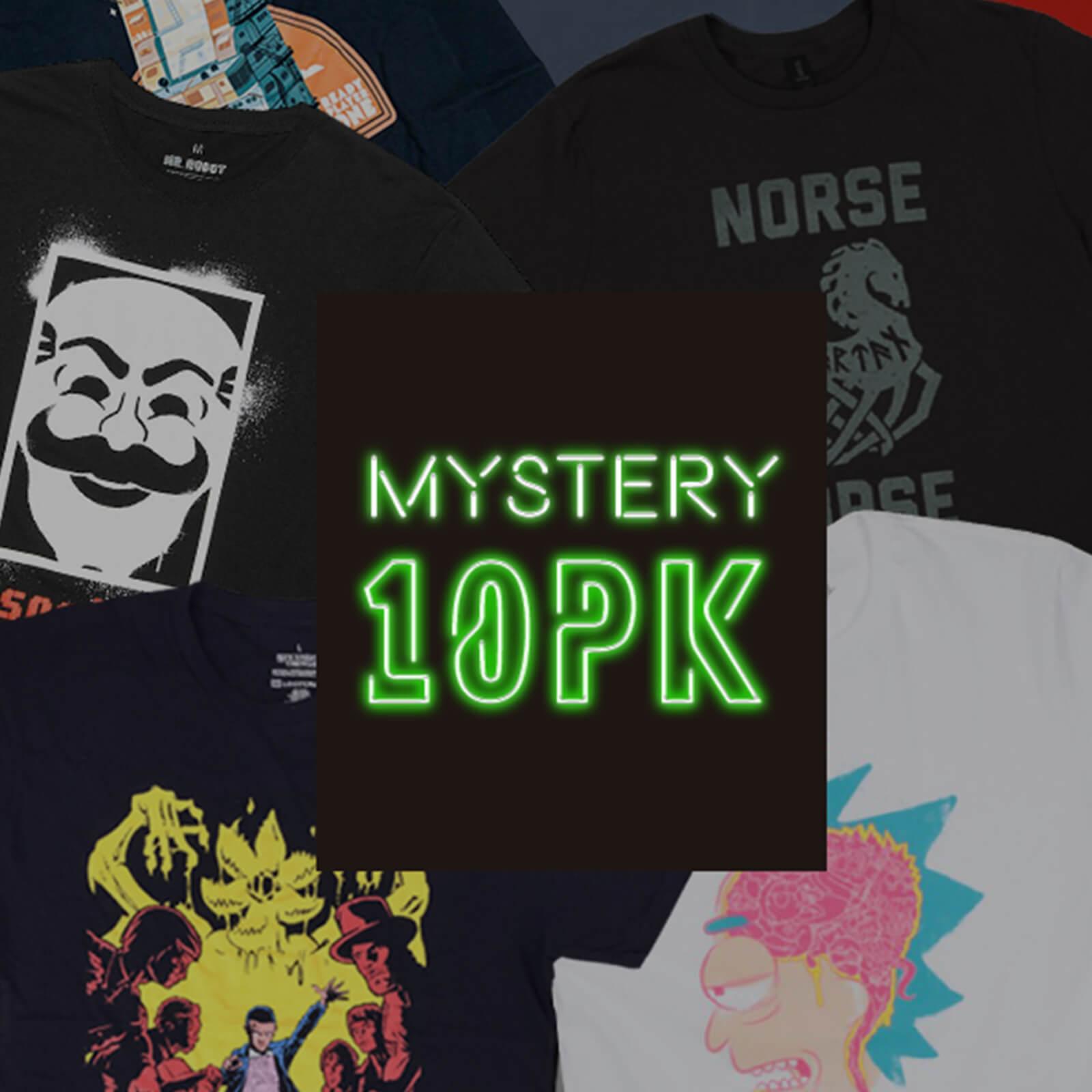 10-Pack Men's Mystery Geek T-Shirt