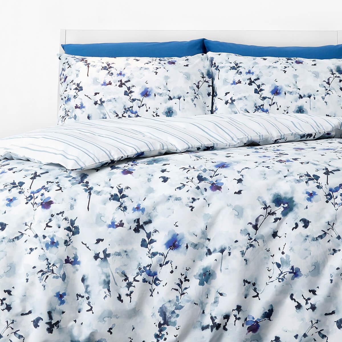 In Homeware Duvet Set Blue Floral Thehut Com