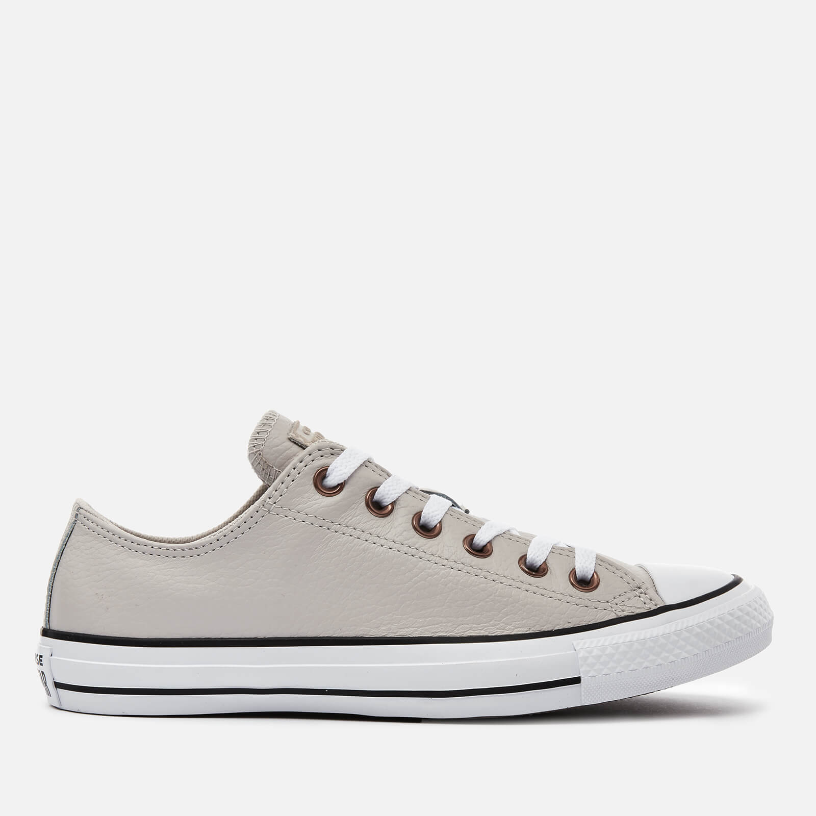 Converse Men's Chuck Taylor All Star Leather Ox Trainers Pale PuttyWhiteBlack