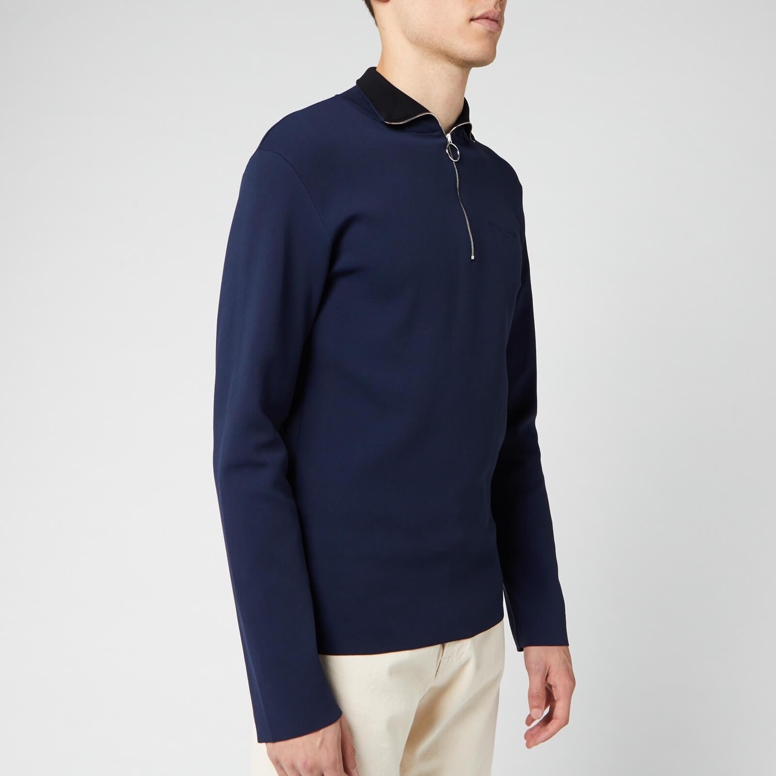 Maison Kitsuné Men's Technical Zipped Collar Pullover - Dark Navy - M - Blue