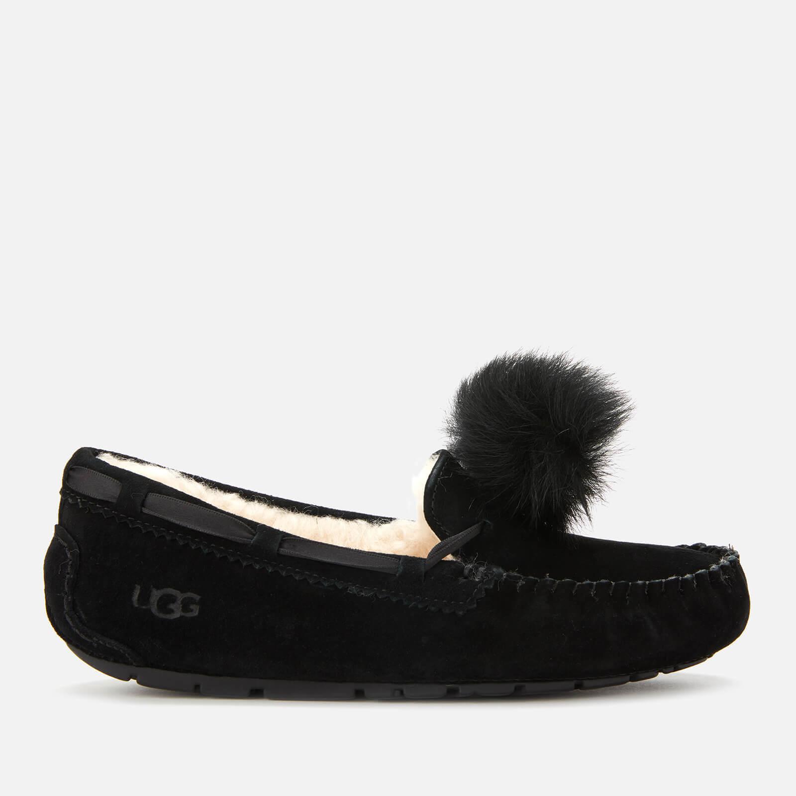 UGG Women's Dakota Pom Pom Moccasin Slippers - Black - UK 7