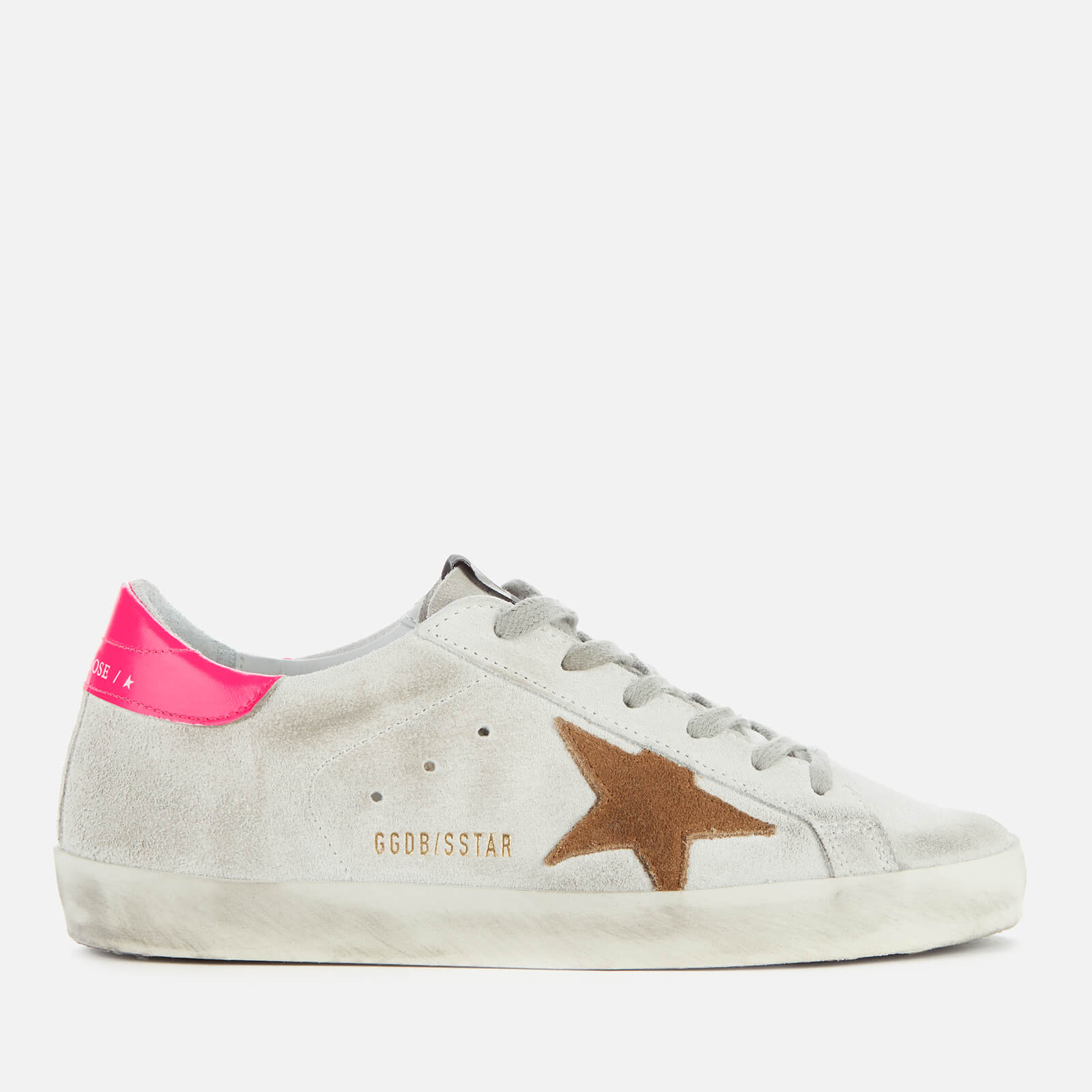 golden goose white and pink superstar