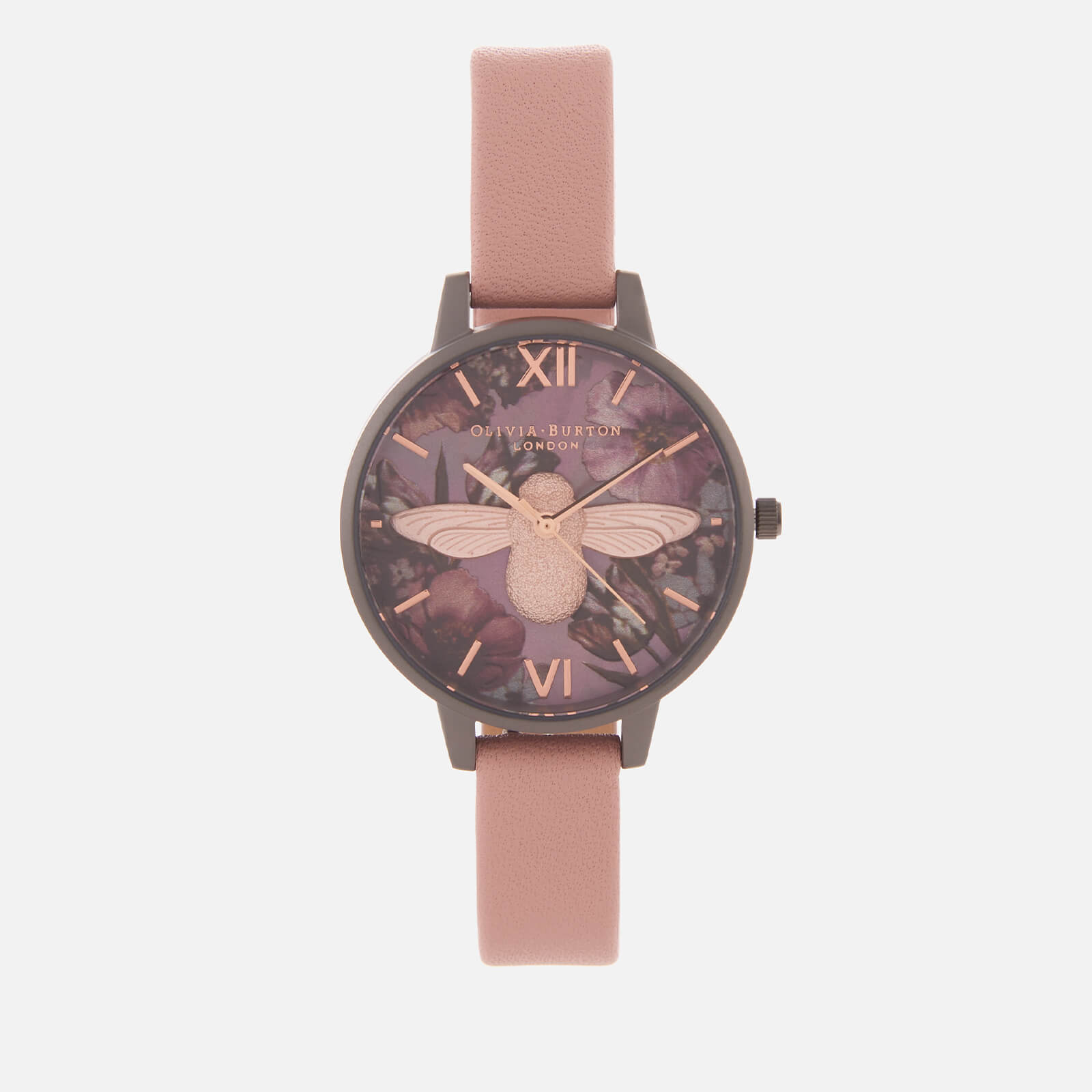 Olivia Burton Women's Twilight Bee Watch - Pink/Grey