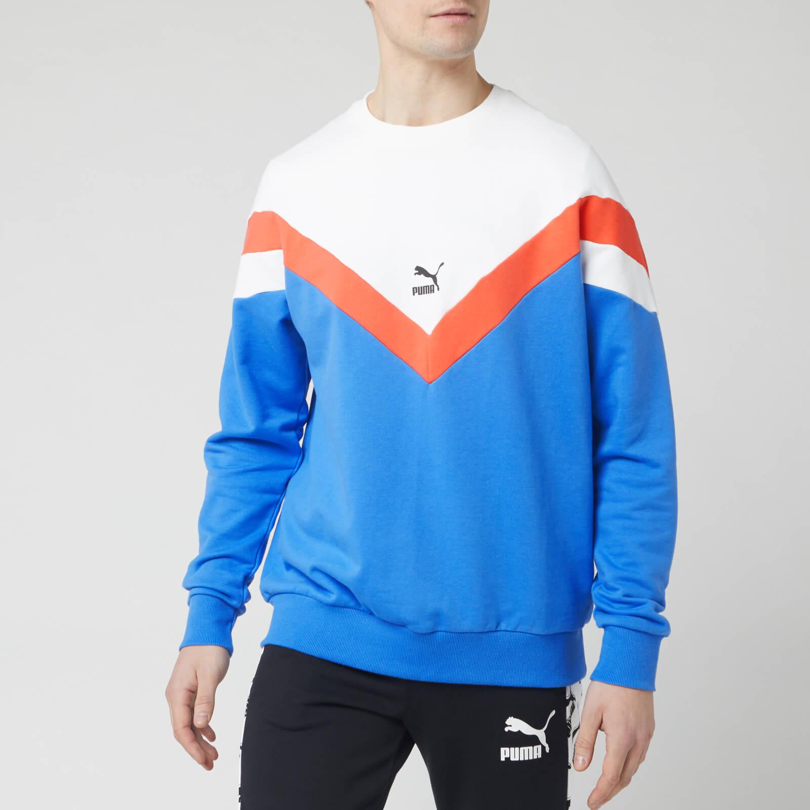 puma sweatshirt red white blue