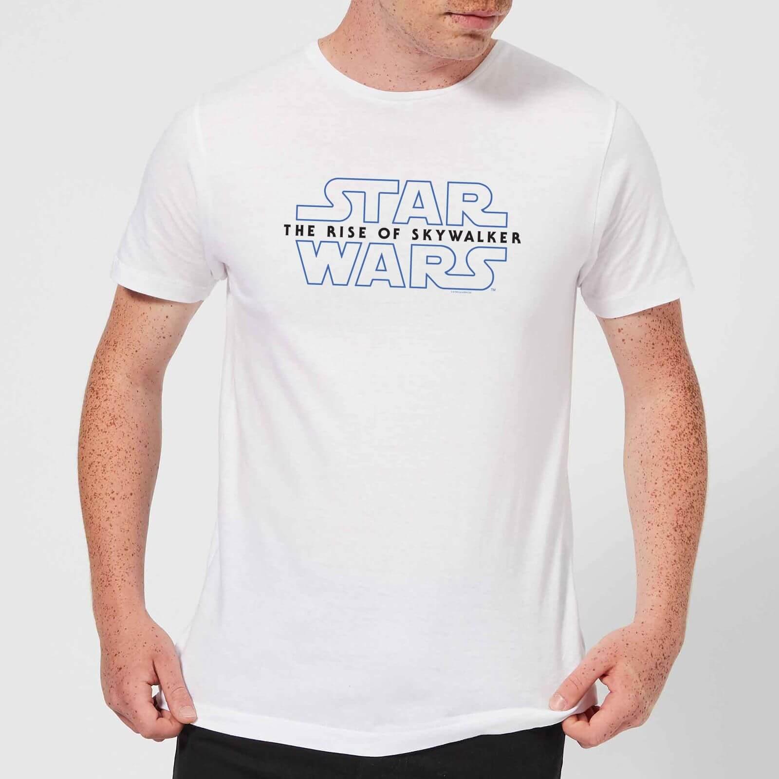 Star Wars The Rise Of Skywalker Logo Men S T Shirt White Clothing Zavvi Us
