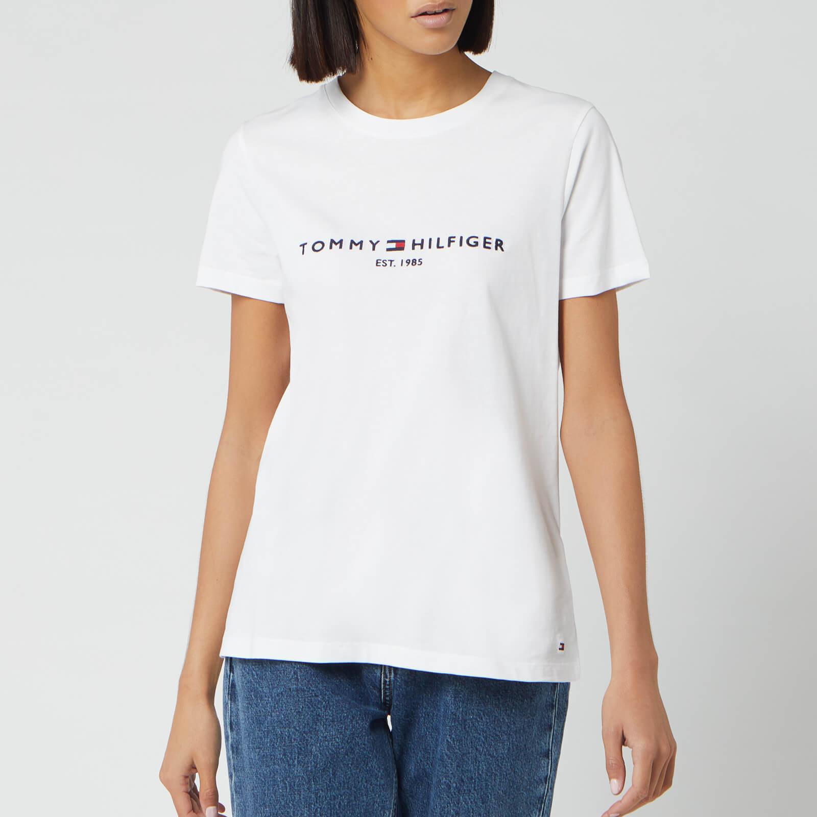 Tommy Hilfiger Women's Essential Hilfiger T Shirt White