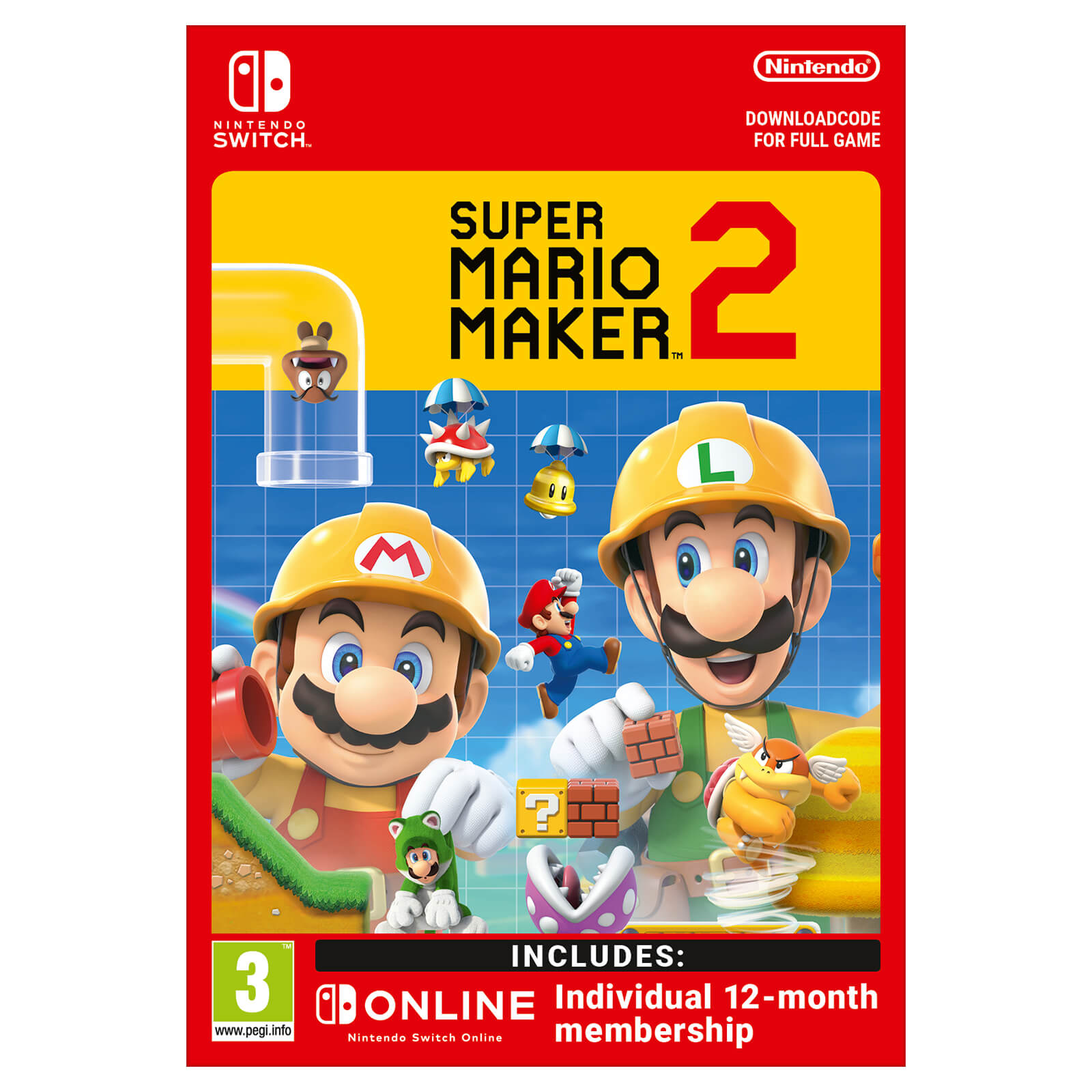 Super Mario Maker 2 + Nintendo Switch Online 12 Months (Individual) -  Digital Download   Nintendo Official UK Store