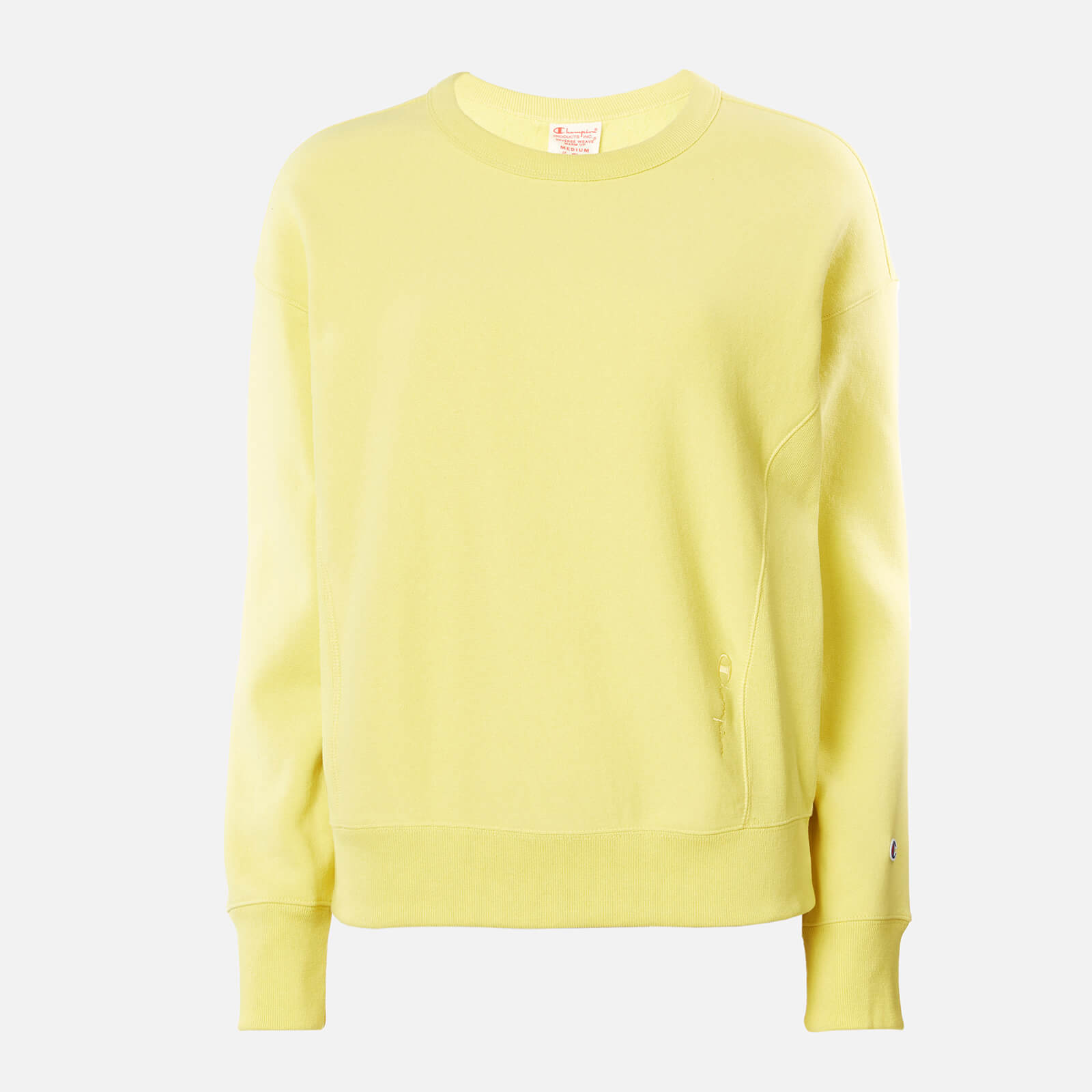yellow champion sweatshirt