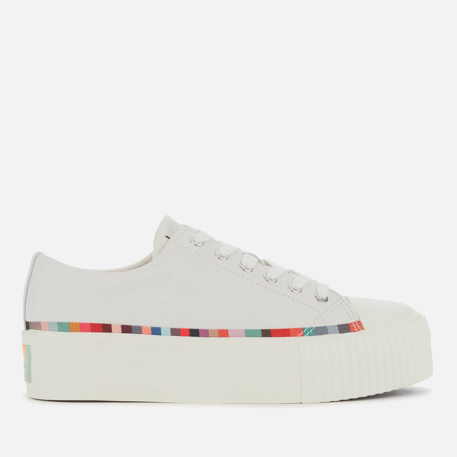 Womens metallic silver trainers plimsolls with white trim in sizes 4 to 8 uk