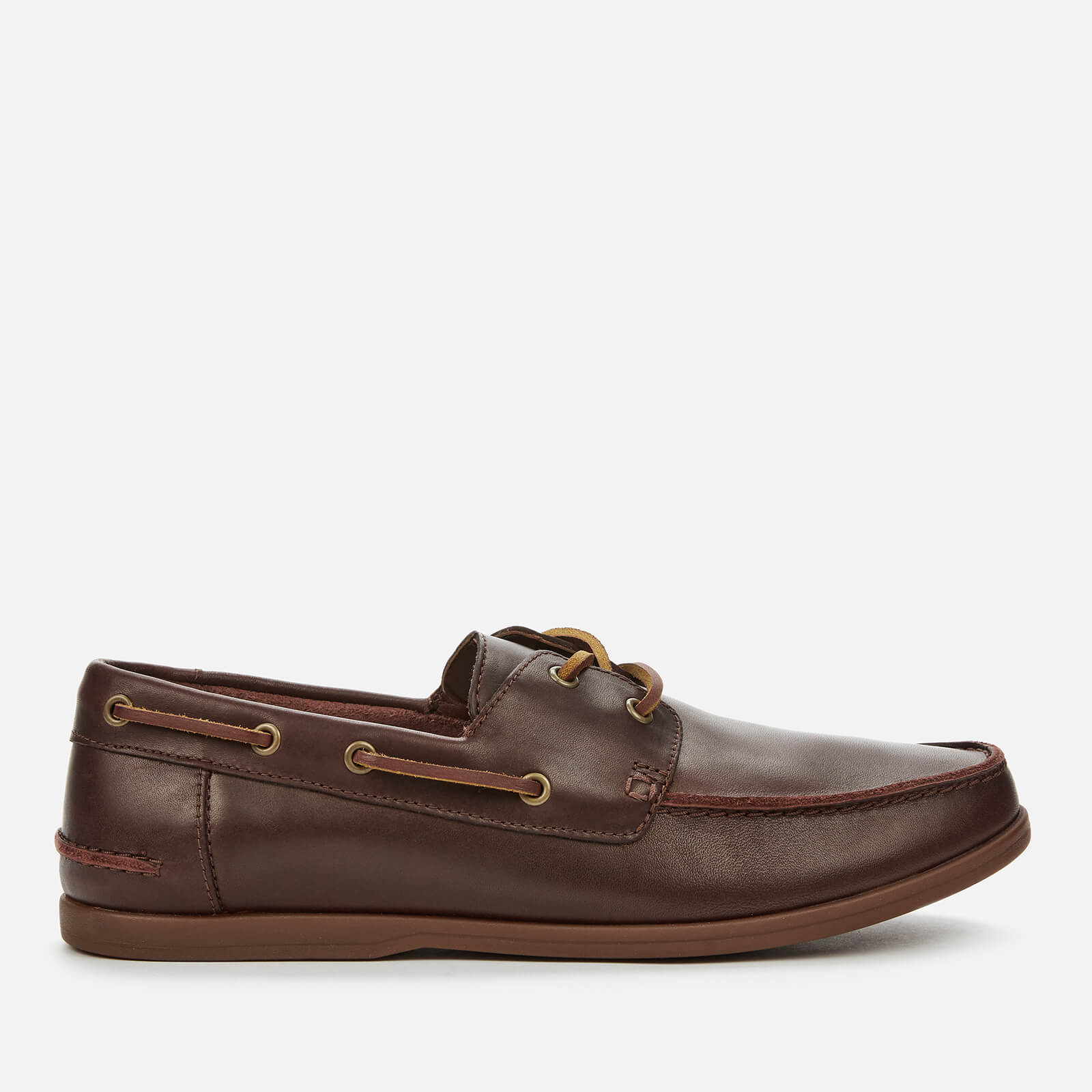 Clarks Men's Pickwell Sail Leather Boat Shoes British Tan