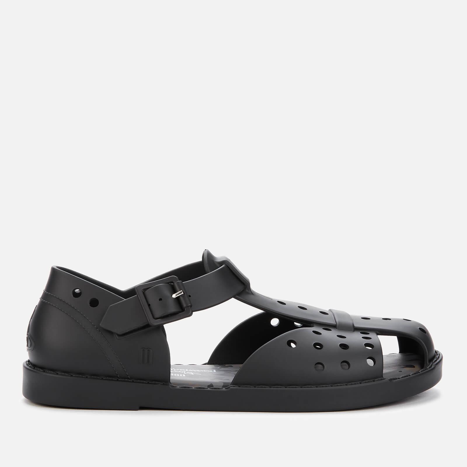 Abaya Flat Sandals - Black Matt