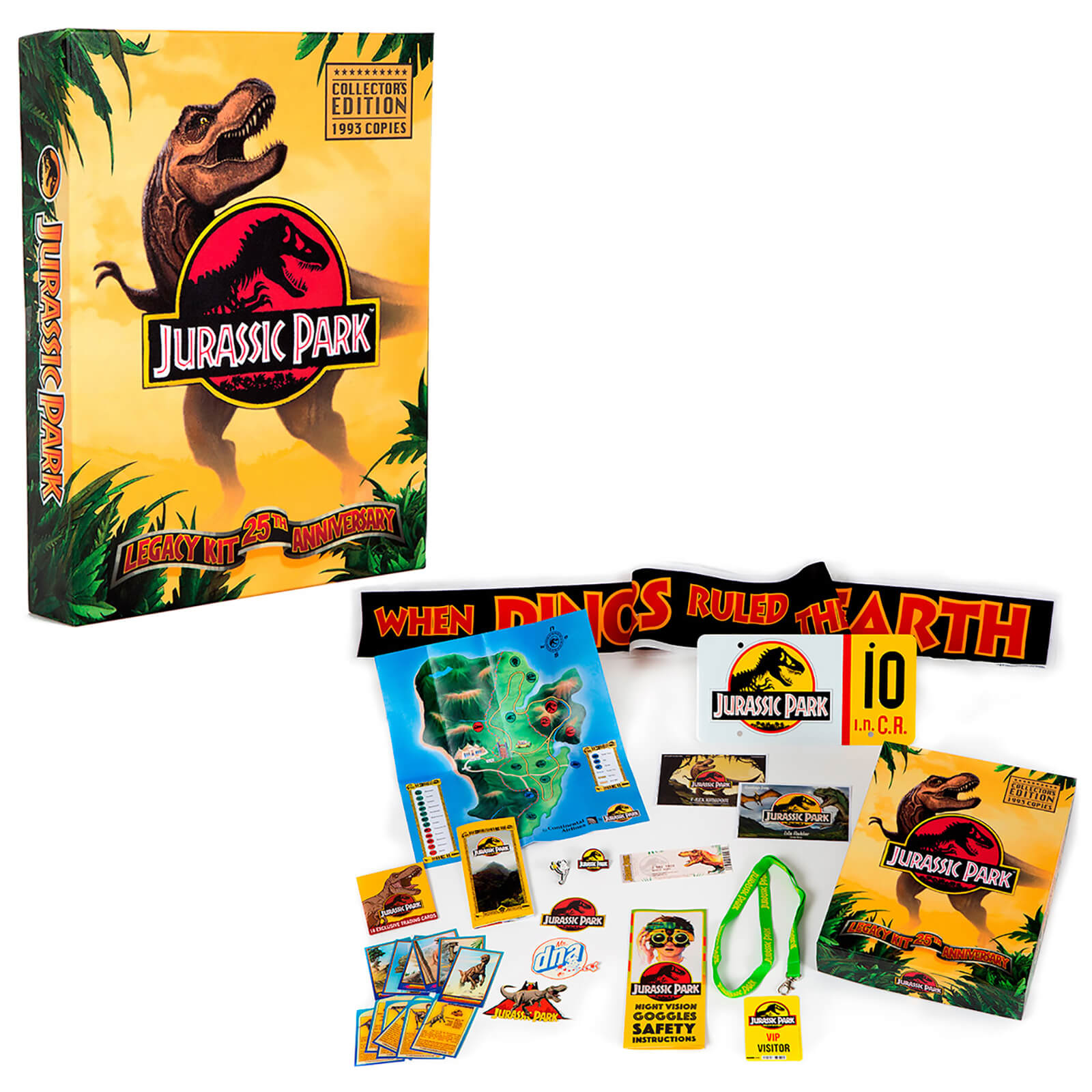 1993 worldwide Jurassic Park Legacy Kit Gadgets Gift Box Set Edition Limited n