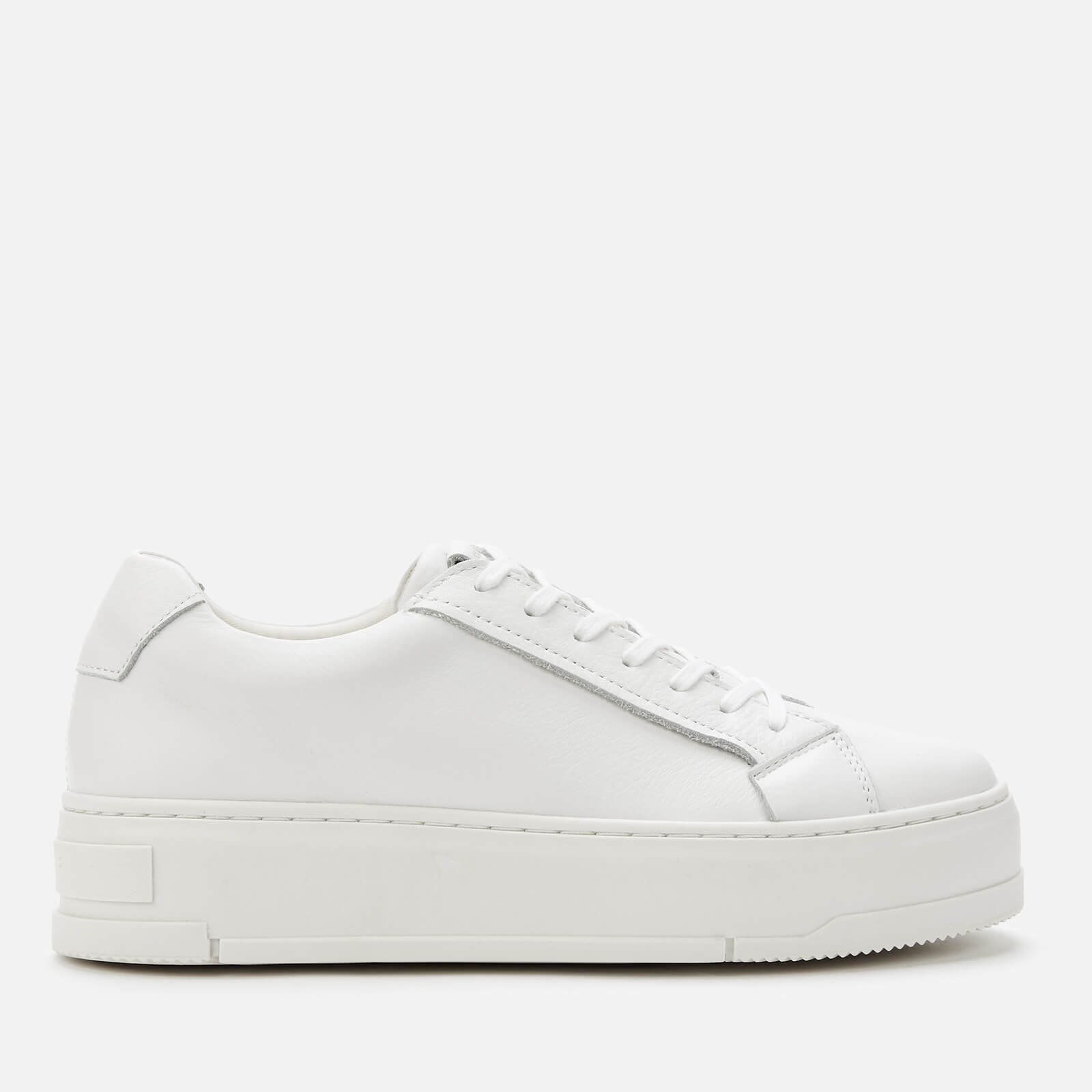 Judy Leather Flatform Trainers - White
