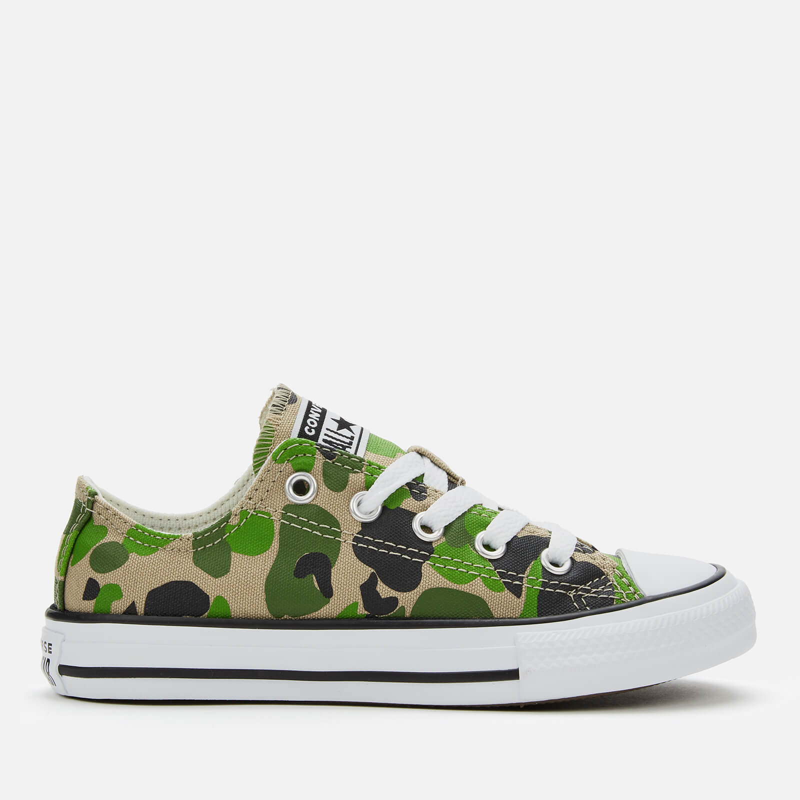 Converse Kids' Chuck Taylor All Star Camo Ox Trainers BlackKhakiWhite