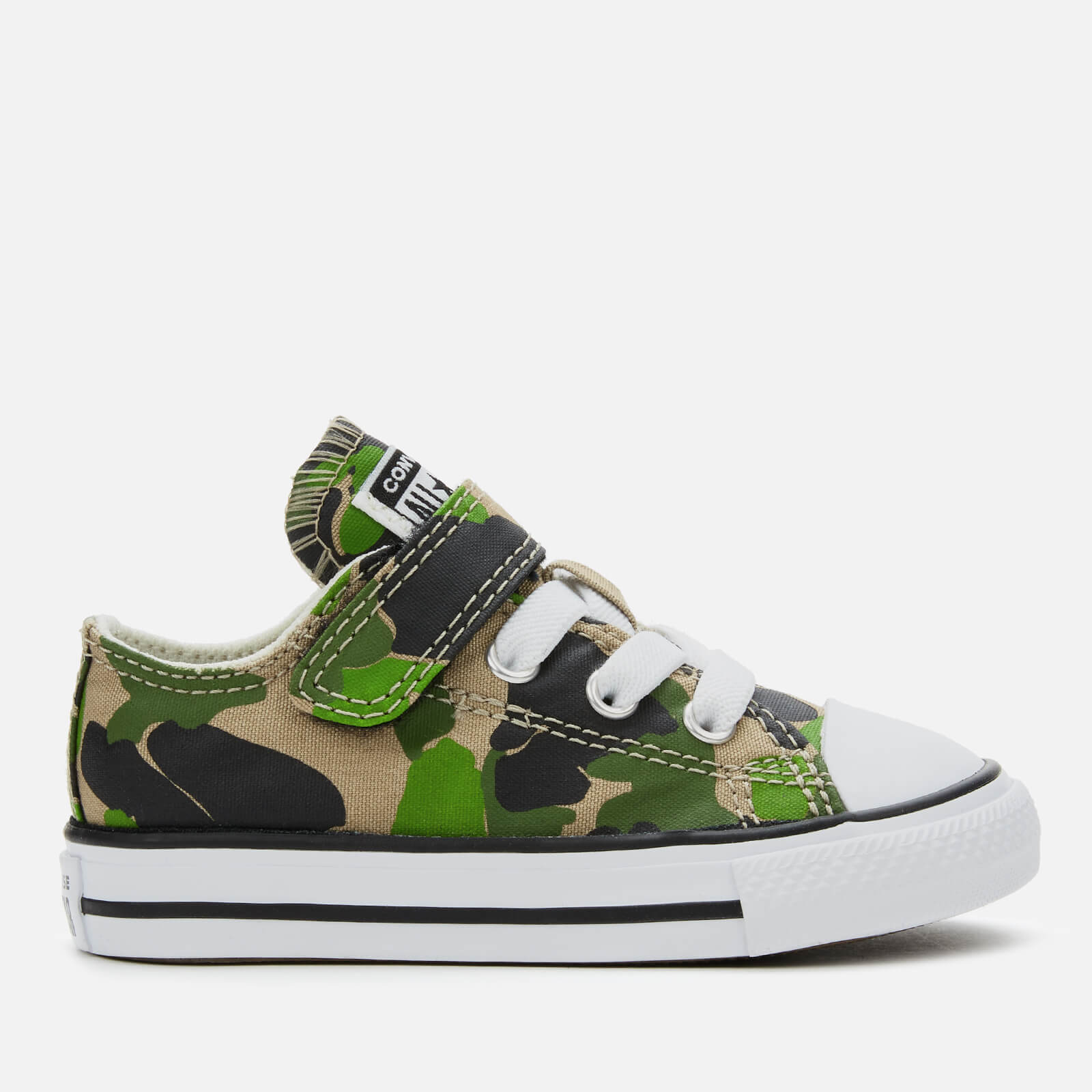 Converse Toddlers' Chuck Taylor All Star 1V Camo Ox Trainers BlackKhakiWhite