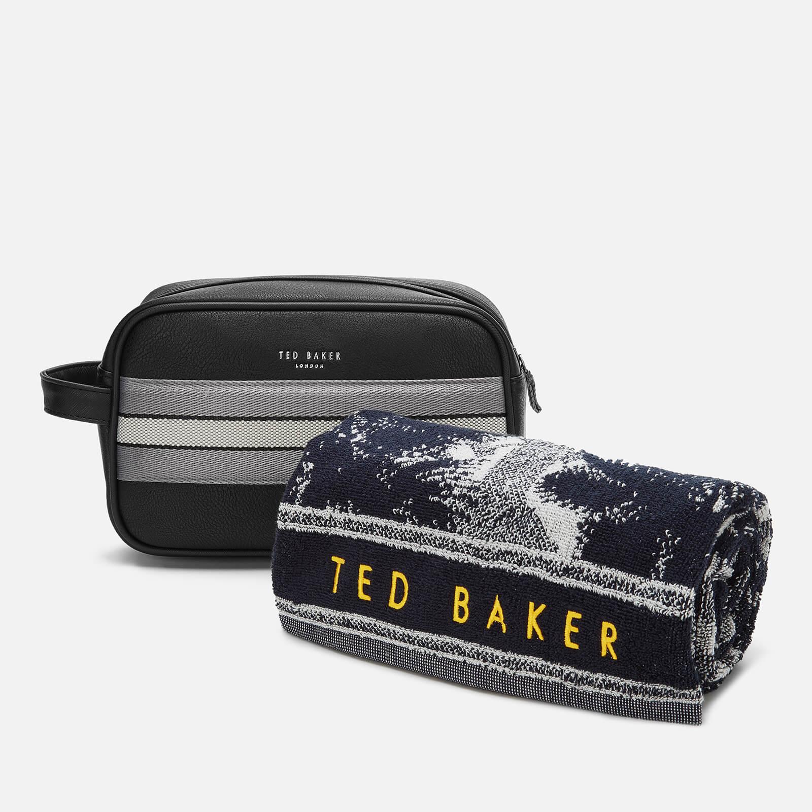 Ted Baker Men's Endset Washbag and Towel Gift Set Black
