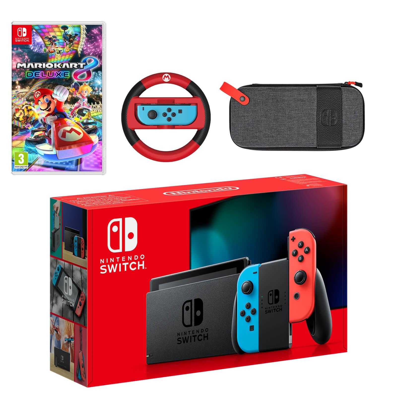 Nintendo Switch Neon Blue Neon Red Mario Kart 8 Deluxe Pack