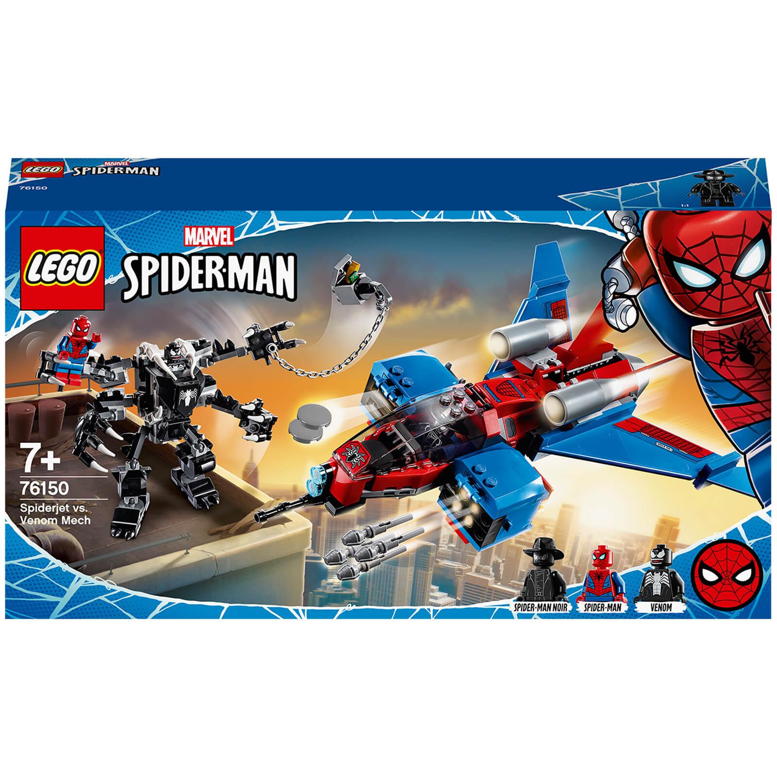 LEGO Marvel Spider-Man Jet vs 371pcs Venom Mech Playset 76150 Age 5