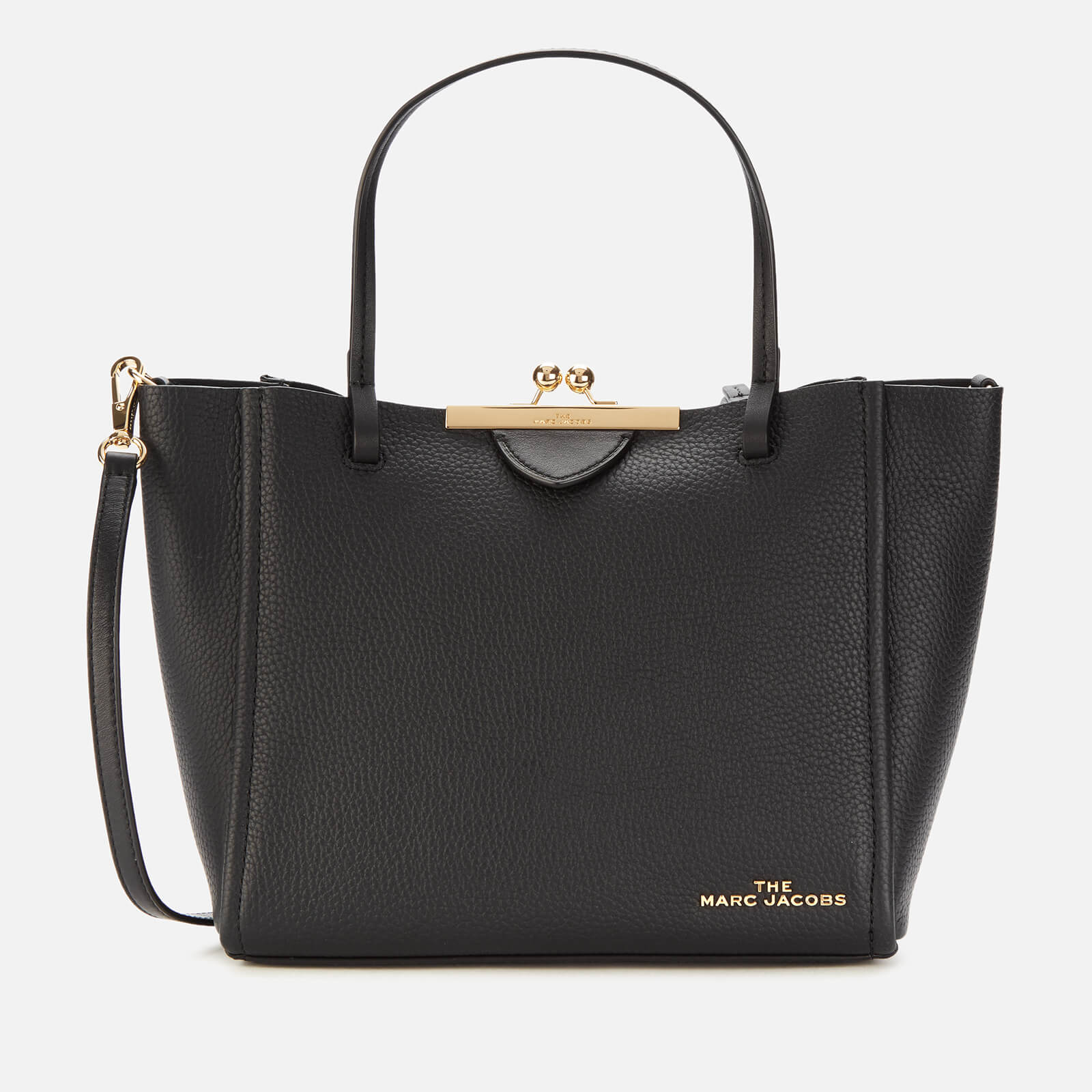 「Marc Jacobs Women's The Kiss Lock Mini Tote Bag - Black」的圖片搜尋結果