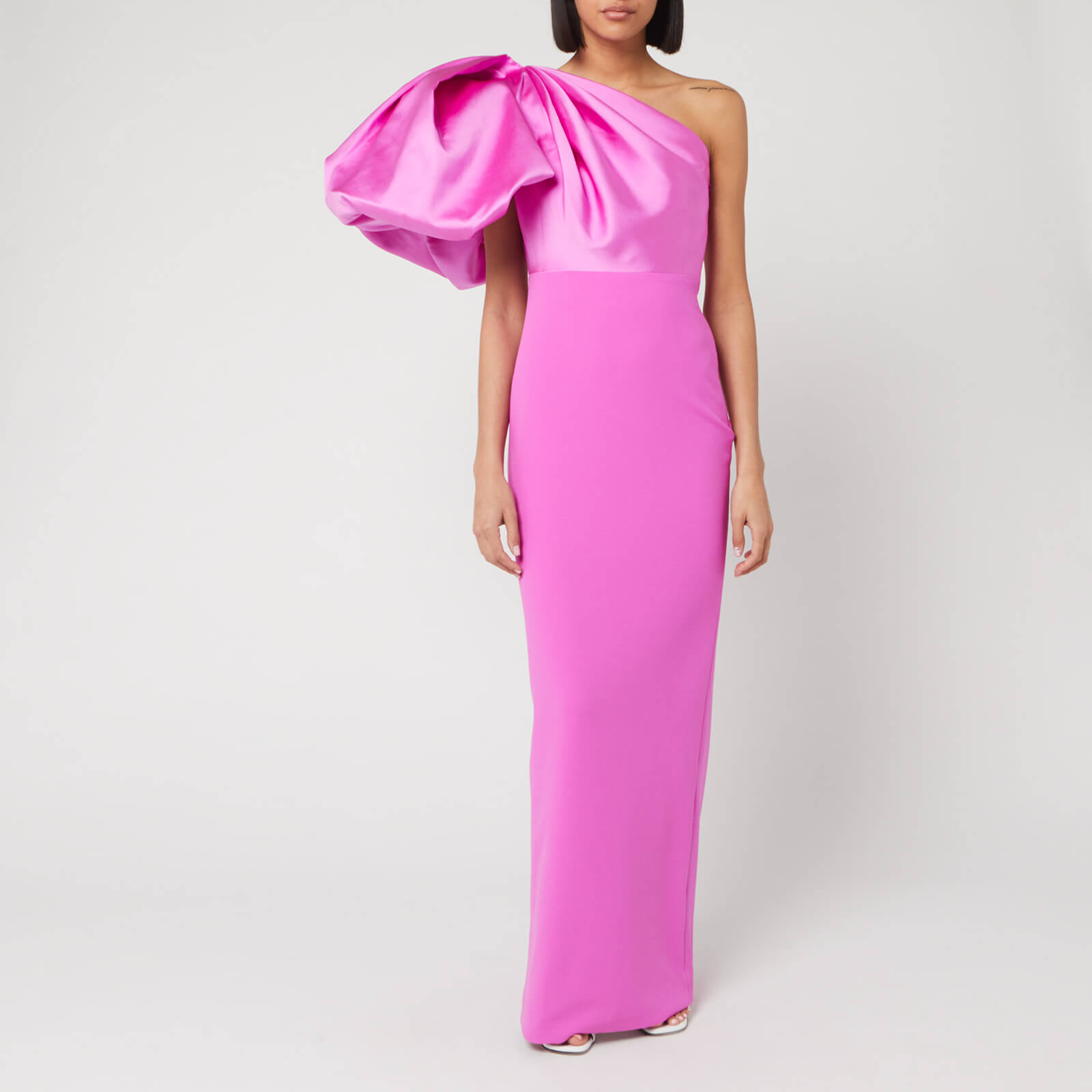 Solace London Womens Pink Acaia One Shoulder Maxi Dresss