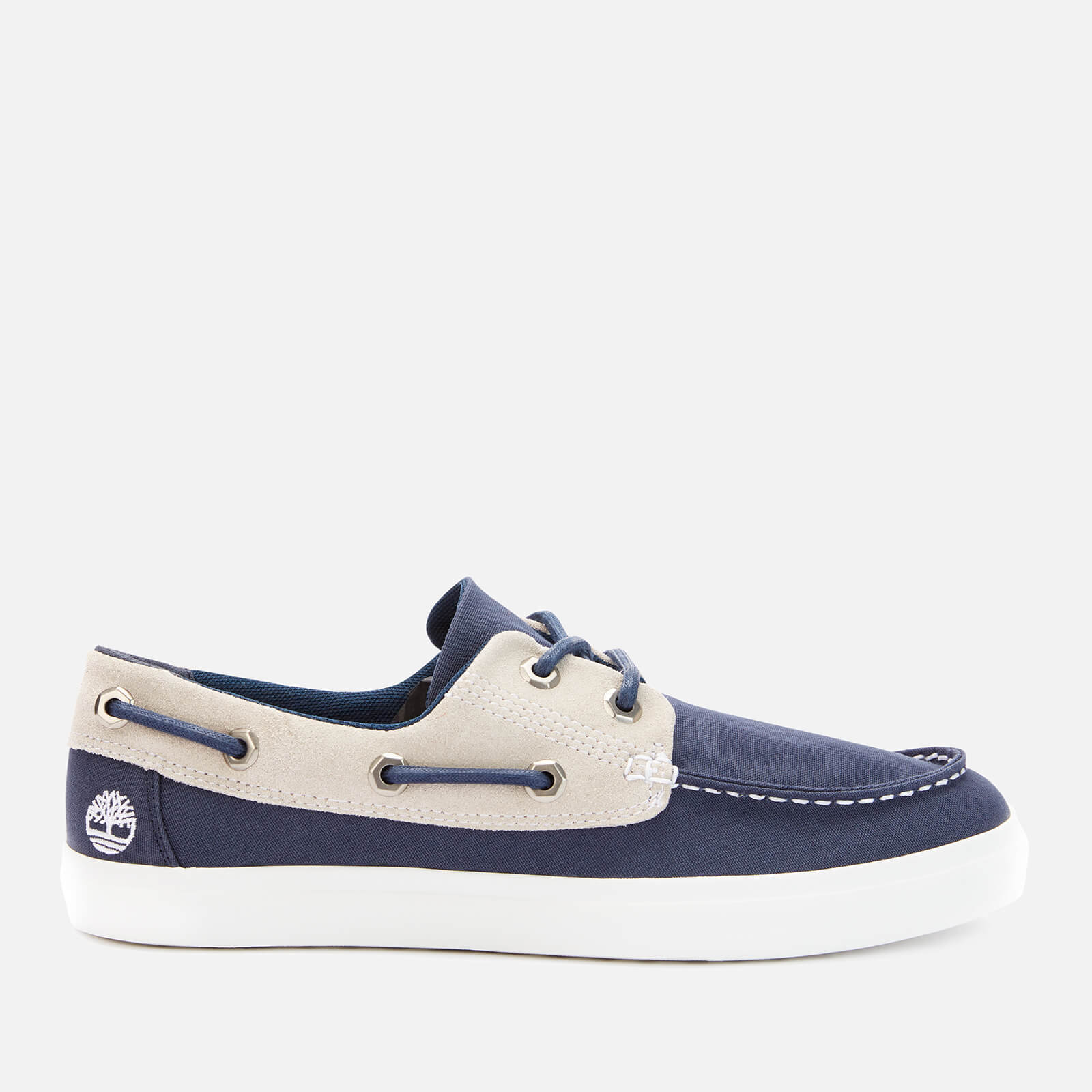 Timberland Men's Union Wharf Canvas 2 Eye Boat Shoes Navy