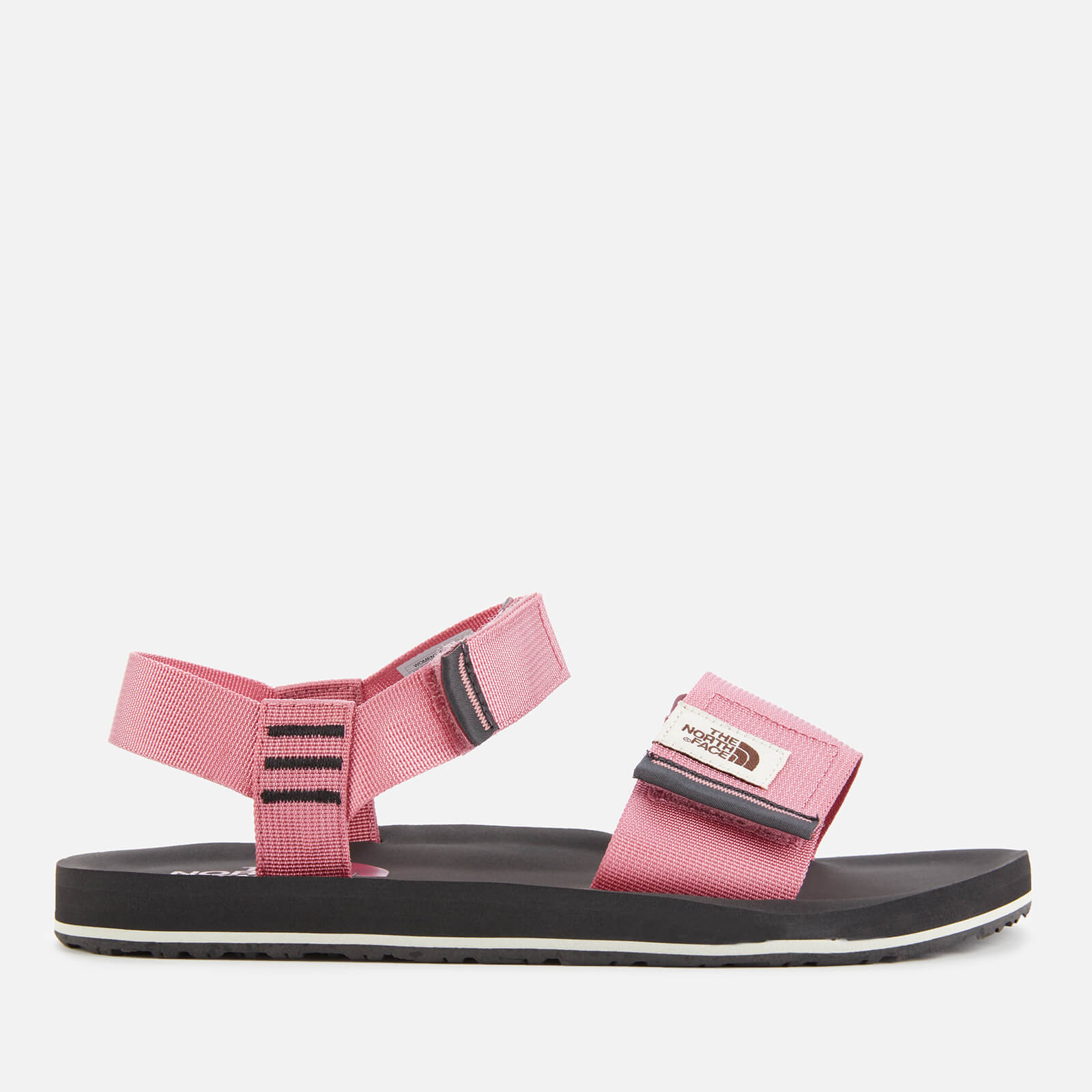 pink and black sandals