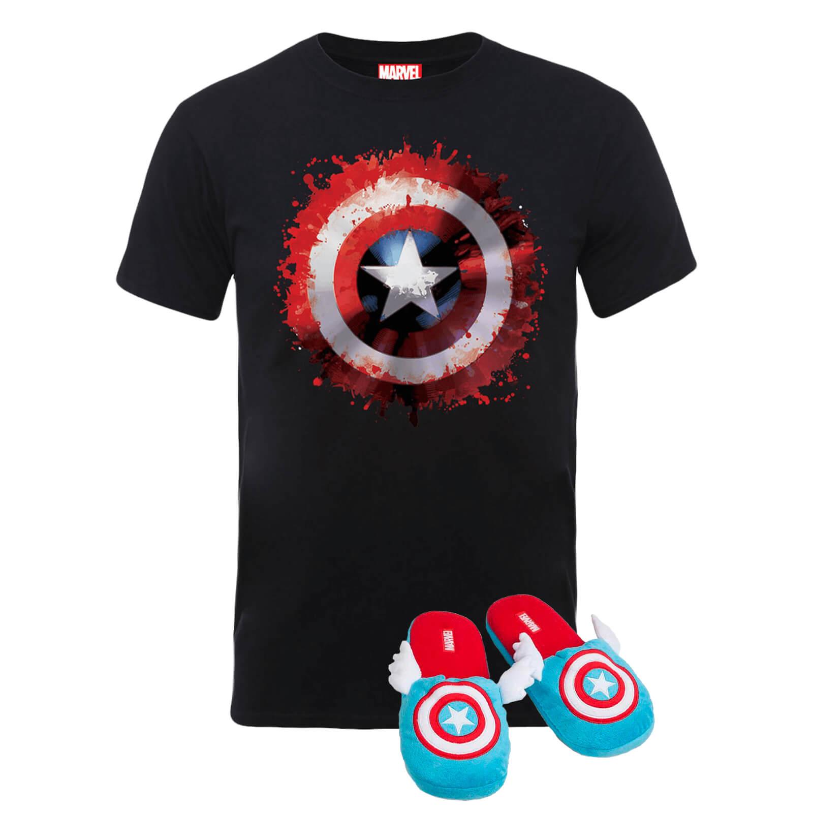 Marvel Comics Captain America Shield Adult Slipper