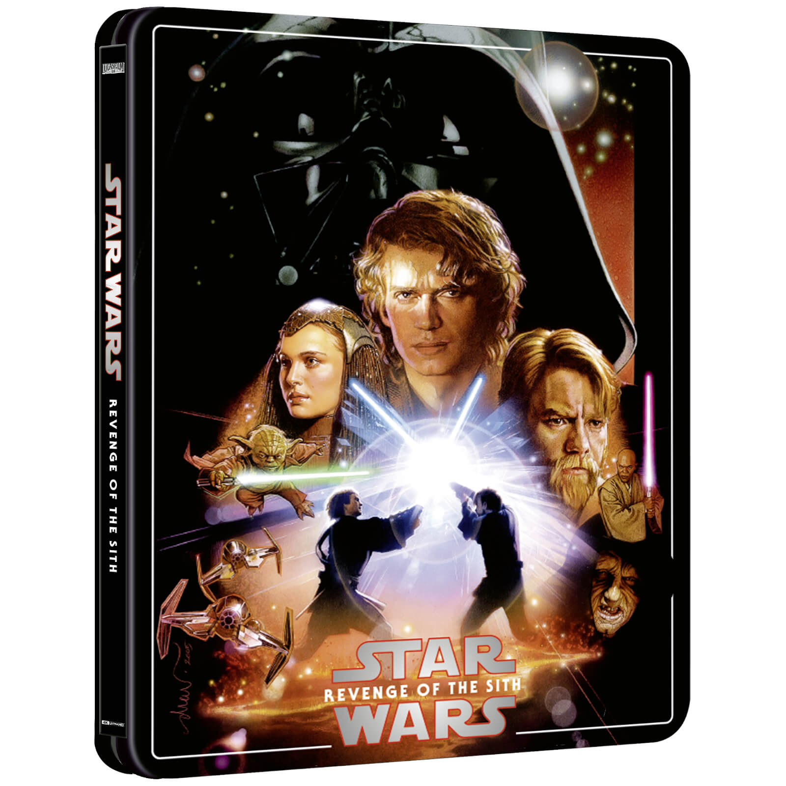 Star Wars Episode Iii Revenge Of The Sith Zavvi Exclusive 4k Ultra Hd Steelbook 3 Disc Edition Includes Blu Ray Blu Ray Zavvi Uk