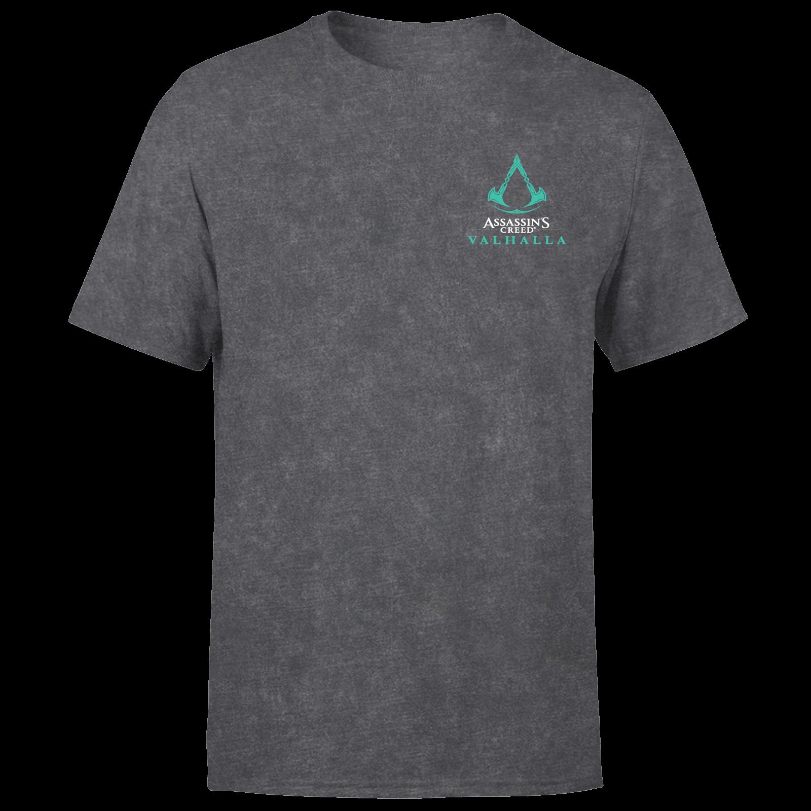 Assassins Creed Valhalla Glow In The Dark Unisex T Shirt Black Acid Wash Clothing Zavvi Australia