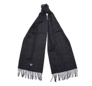 Barbour Men's Plain Lambswool Scarf - Charcoal