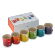 Le Creuset Stoneware Rainbow Mugs (Set of 6) - 350ml