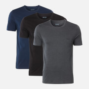 BOSS Hugo Boss Men's Triple Pack T-Shirts - Navy/Grey/Black
