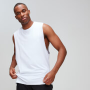 MP Men's Luxe Classic Drop Armhole Tank Top - White
