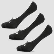 MP Men's Essentials Invisible Socks - Black (3 Pack)