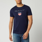 GANT Men's O1. Shield Short Sleeve T-Shirt - Evening Blue