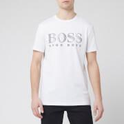 BOSS Men's T-Shirt Large Logo Rn - White