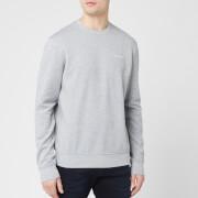 Armani Exchange Men's Small Chest Logo Sweatshirt - Alloy Heather