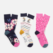 Joules Women's 30th Anniversary 3 Pack - Floral