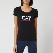 Emporio Armani EA7 Women's Basic Logo T-Shirt - Black/White