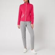 Emporio Armani EA7 Women's Tracksuit With Full Zip Jacket - Pink/Grey