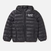 Emporio Armani EA7 Boys' Train Core ID Down Light Hoodie Jacket - Black