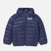 Emporio Armani EA7 Boys' Train Core ID Down Light Hoodie Jacket - Navy