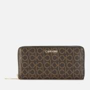 Calvin Klein Women's CK Must Large Ziparound Mono Purse - Brown Mono