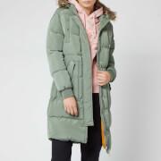 Superdry Women's Luxe Longline Puffer Jacket - Sea Spray