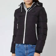 Superdry Women's Spirit Puffer Icon Jacket - Black