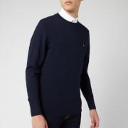 Tommy Hilfiger Men's Lambswool Mock Neck Knitted Jumper - Sky Captain