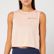 Tommy Sport Women's Cropped Logo Tank Top - Dusty Pink