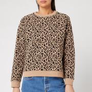 Whistles Women's Flocked Leopard Sweater - Camel