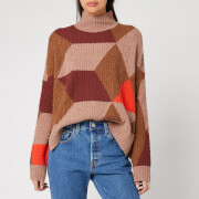 Whistles Women's Cable Intarsia Wool Knit Jumper - Multi