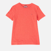 Tommy Hilfiger Boys' Basic Short Sleeve T-Shirt - Apple Red Heather